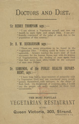 Advert For 'The Vegetarian', Journal reverse
